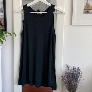 Aritzia - Green Long Tank Crewneck with Side Slits